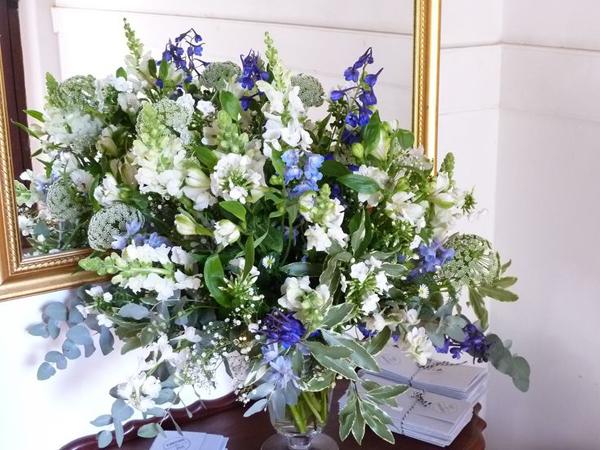 arranjo com flores grande