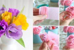 flores papel crepom