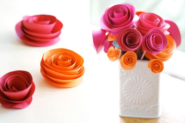 casamento simples flor de papel