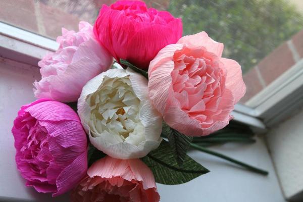 flor de crepom bonita