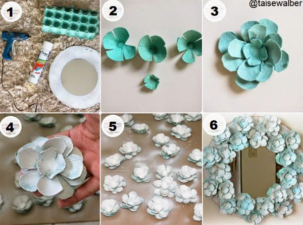 flor de caixa de ovos verde