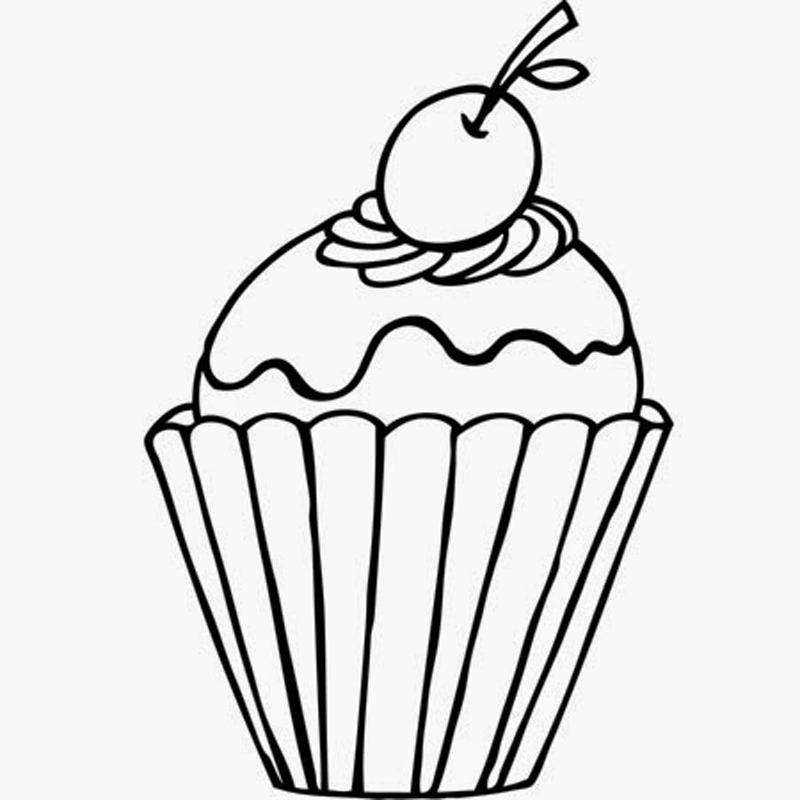 Desenho De Cupcake: 30 Moldes E Fotos