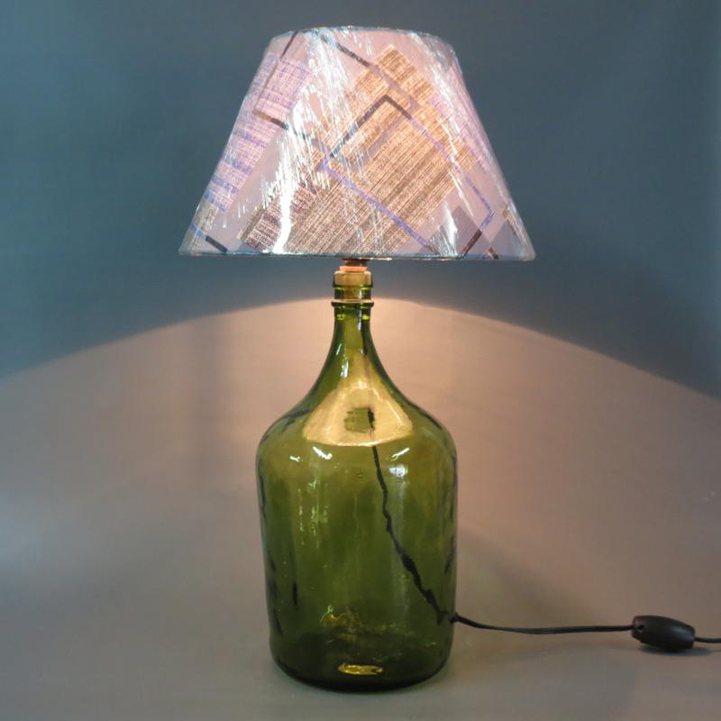 luminaria de garrafao de vidro