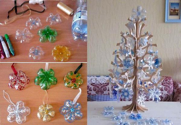 enfeite natalino reciclado com pet