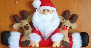 Papai Noel de Feltro: 30 Ideias Legais