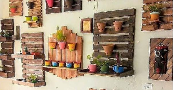 decoração de jardim com palete