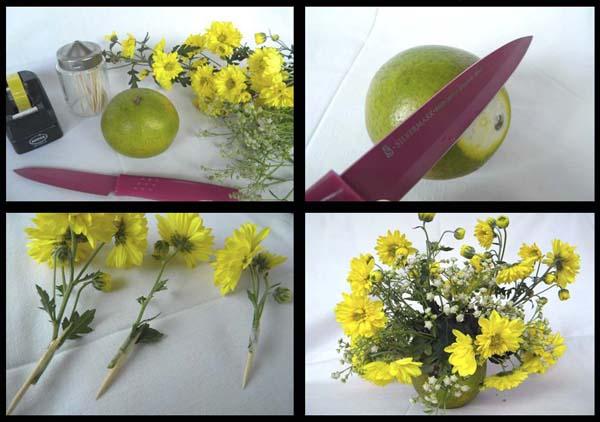 arranjo com flores como fazer