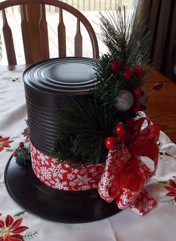 enfeite natalino reciclado lata