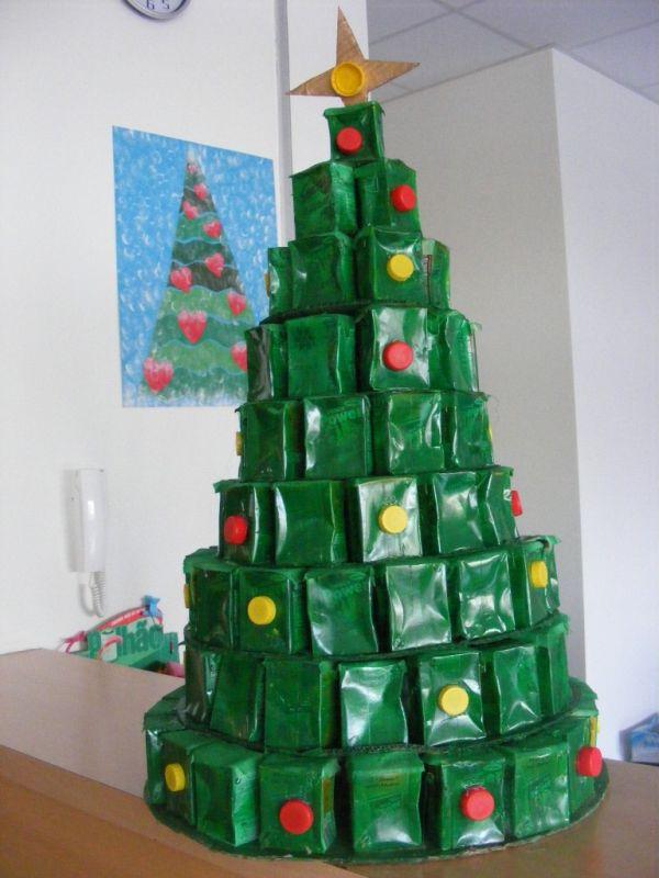 como fazer arvore natalina