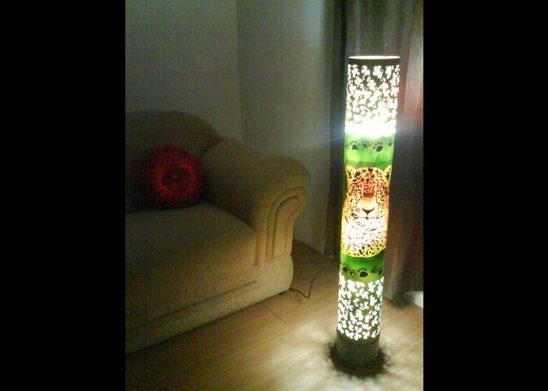 luminaria de pvc onça