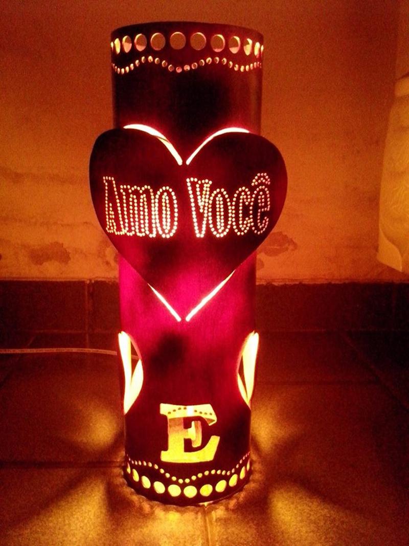 luminaria de pvc amor