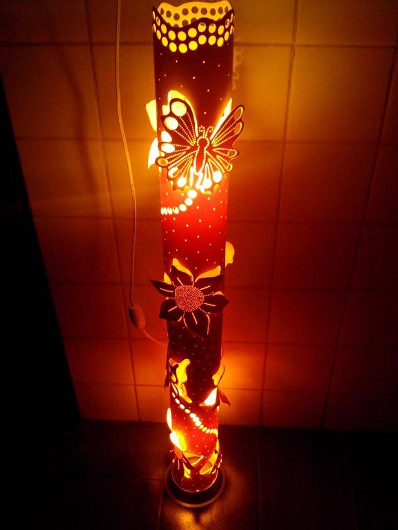 luminaria de pvc de chão