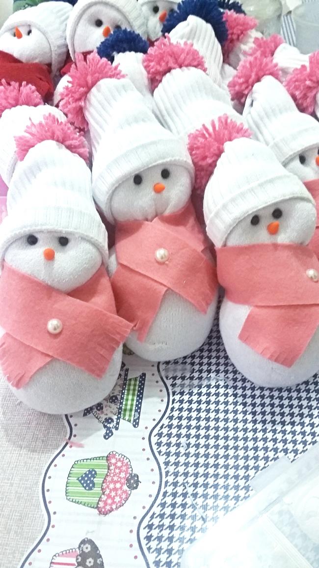 boneco de neve com cachecol