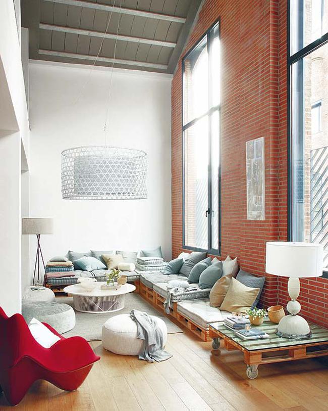 sofá de pallet comum