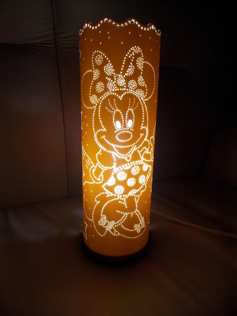 luminaria de pvc minnie