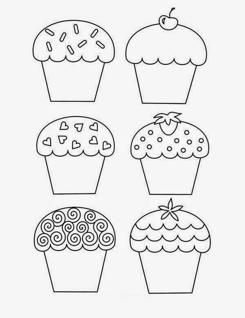 desenho de cupcake tutorial