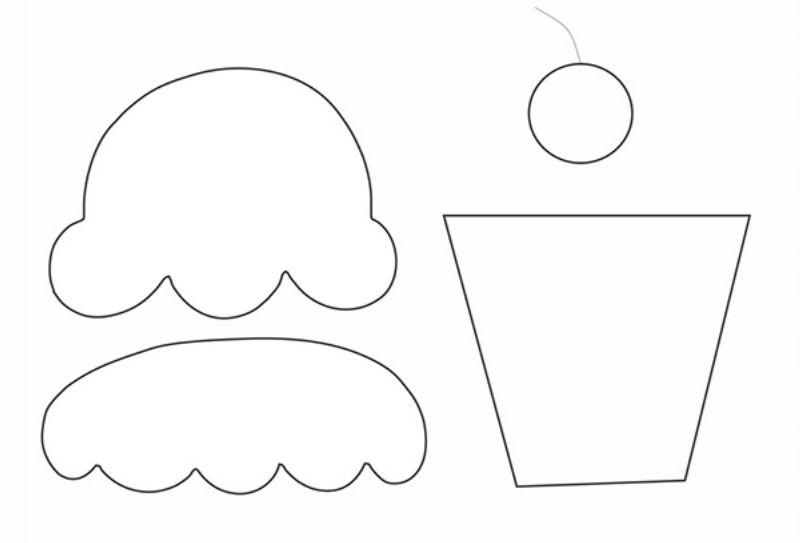 desenho de cupcake por partes