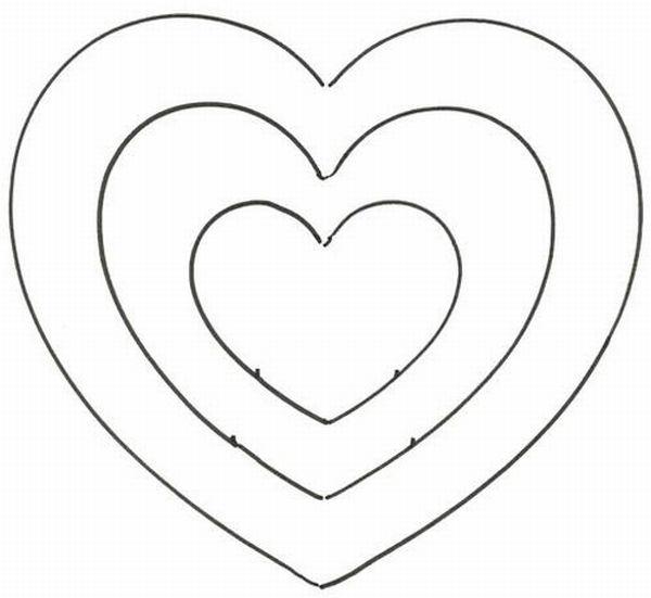 caixinha de coração molde