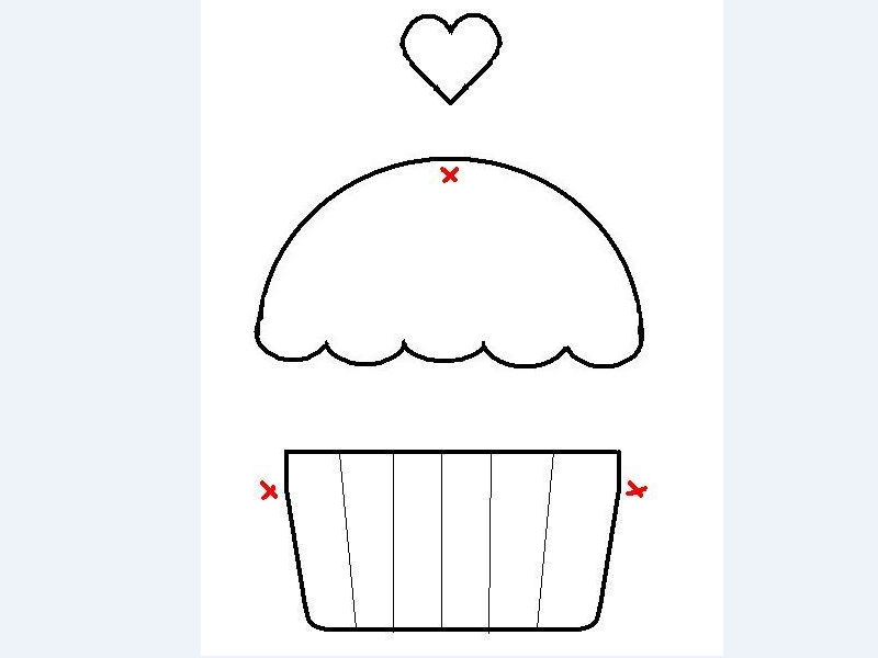 desenho de cupcake para artesanato