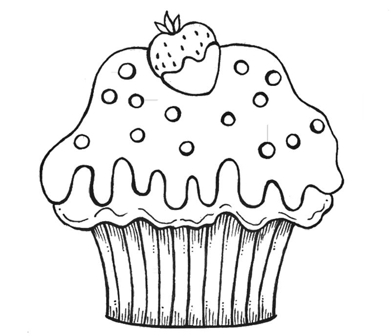 molde desenho de cupcake