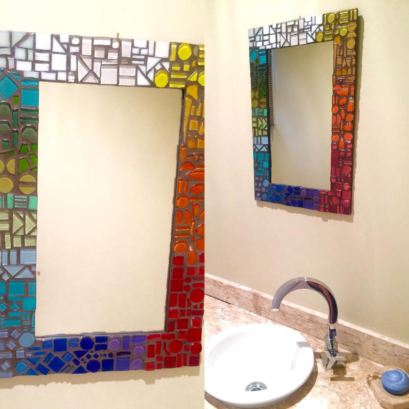 espelho decorado banheiro