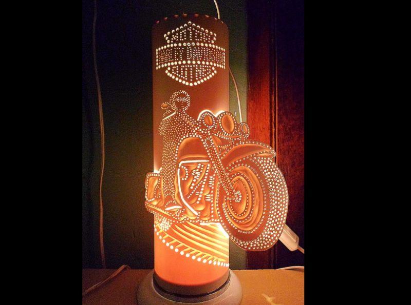 luminaria de pvc moto