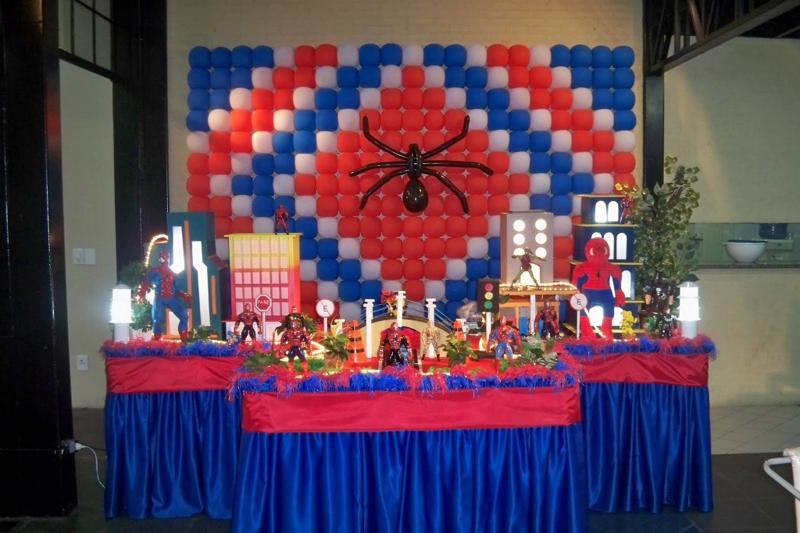Painel de aniversário homem aranha