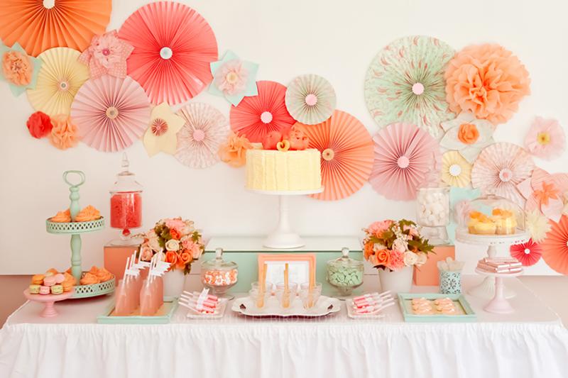 Painel de aniversário rosas papel