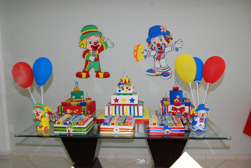 Painel de aniversário palhaços