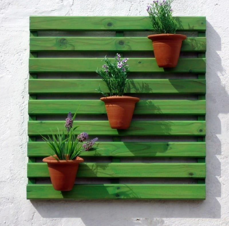 painel para plantas verde