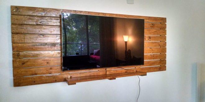 painel de pallet tv