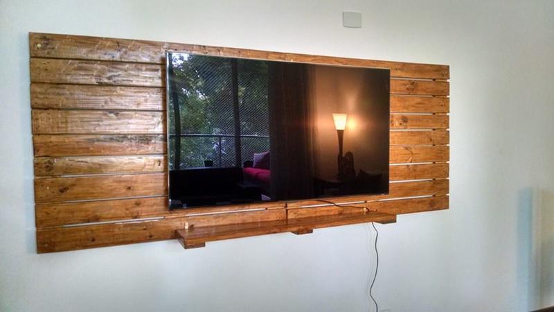 painel de pallet para tv