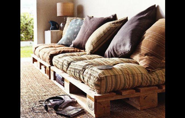sofá de pallet original