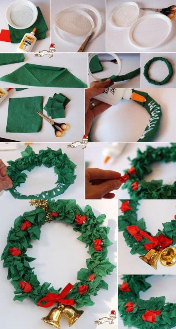 enfeite natalino reciclado guirlanda