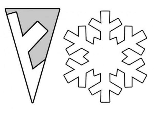 flocos de neve passo a passo