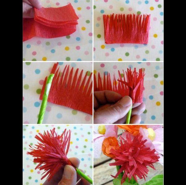 Flor De Crepom 26 Ideias Para Decoração Artesanato Passo A Passo