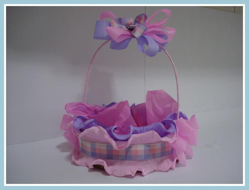cesta decorada lilas