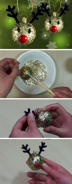 enfeite natalino reciclado renas
