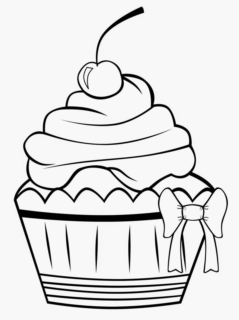 desenho de cupcake molde