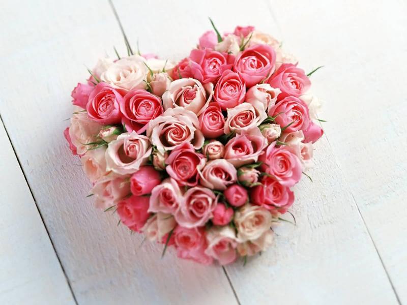 coração de flores lindo