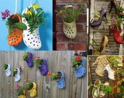 artesanato para varanda sapatos