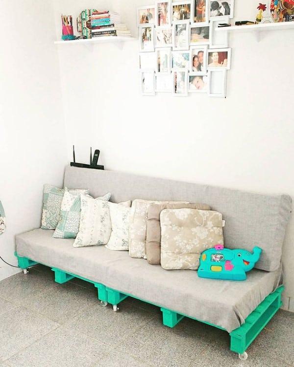 sofa de pallet de canto