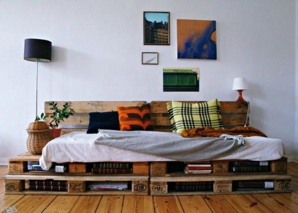 sofá de palete fotos