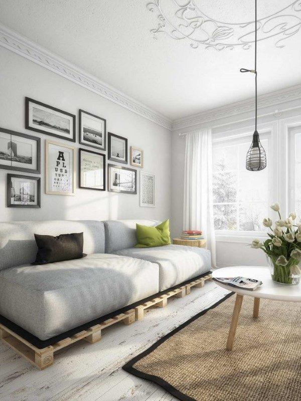 sofa de pallets fotos