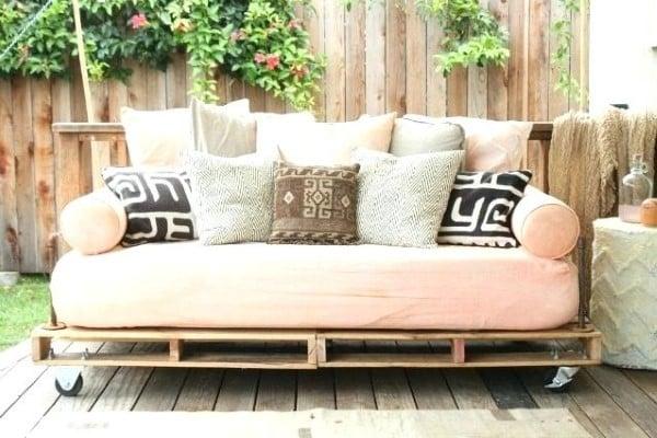 sofa de pallet grande