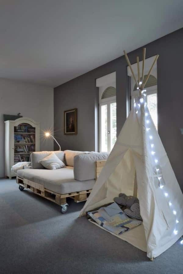 sofa de palete jardim