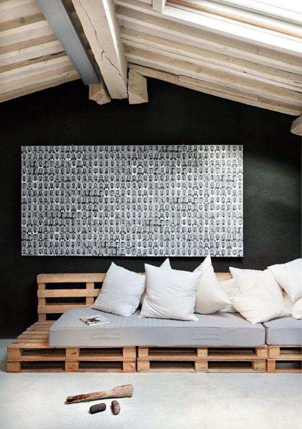 sofa de pallet fotos