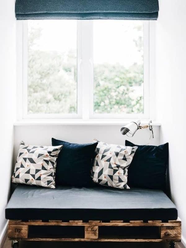 sofa de palete preto