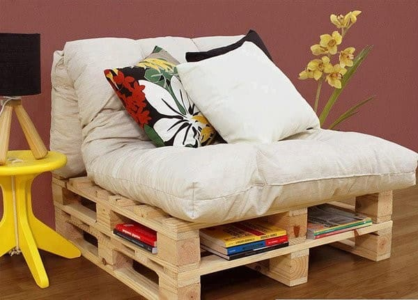 sofa de palete com luz