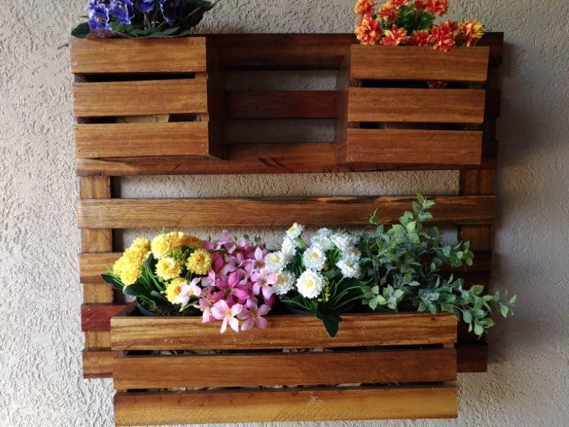 suporte de pallet para flor artificial